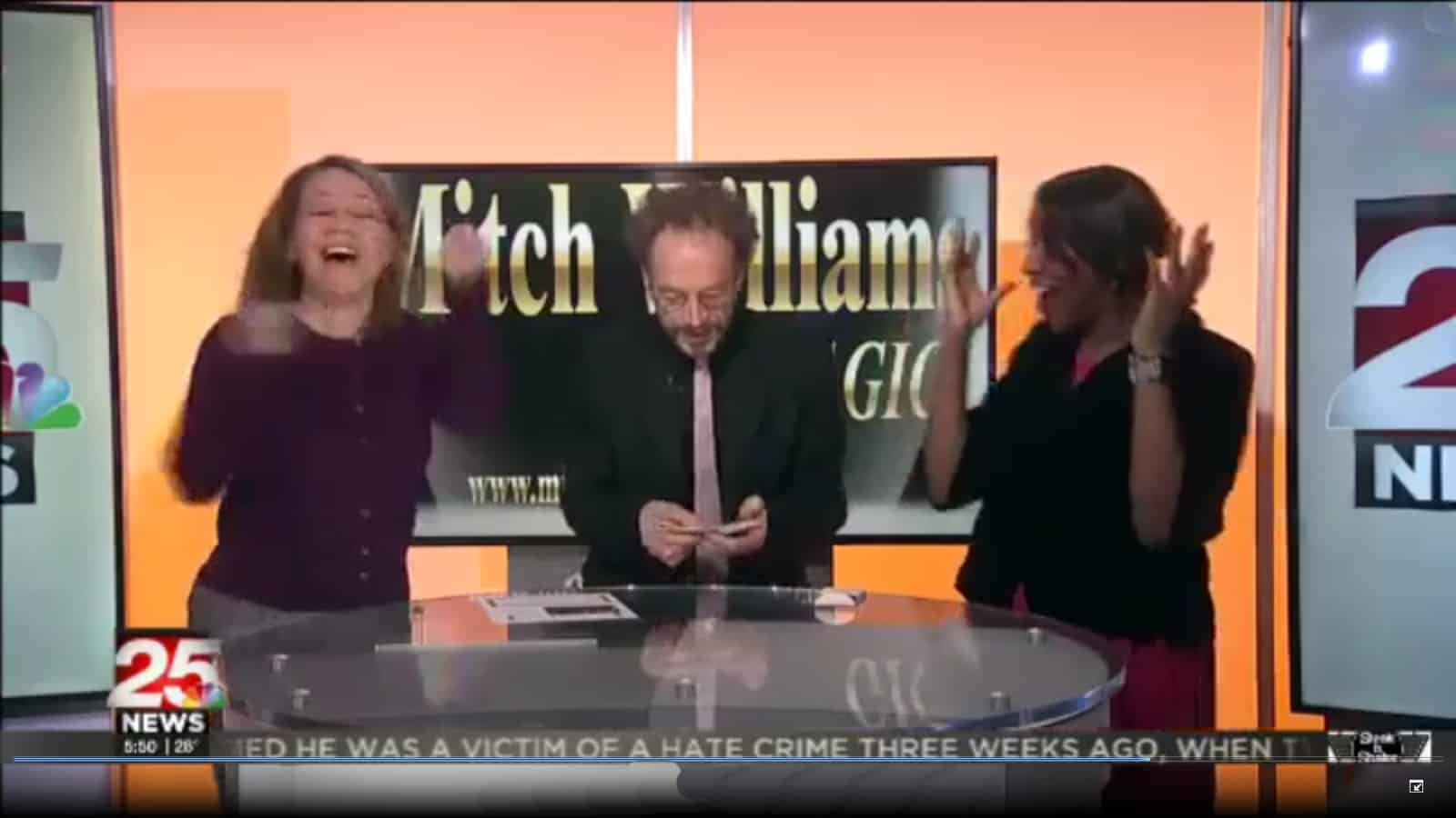 Magician Mitch Williams - wows on television